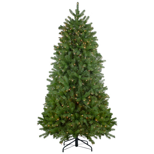 7.5' Pre-Lit Palisades Fir Artificial Christmas Tree - Clear Lights - IMAGE 1