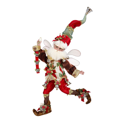 Mark Roberts Red and Brown Jingle Bells Christmas Fairy, Medium 16-Inches - IMAGE 1