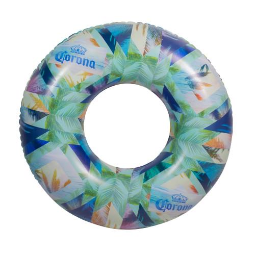 "36"" Inflatable Corona Palm Trees Swimming Pool Tube Ring - IMAGE 1"