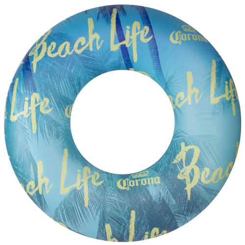 """36"""" Corona Blue and Yellow Inflatable Swimming Pool Ring - IMAGE 1"""