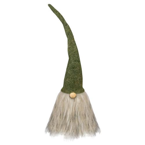"""14"""" Green and Gray Christmas Gnome Figure - IMAGE 1"""