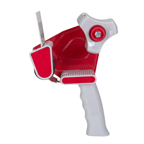 """10"""" Red and Gray One Handed 3 Inch Packing Tape Gun - IMAGE 1"""