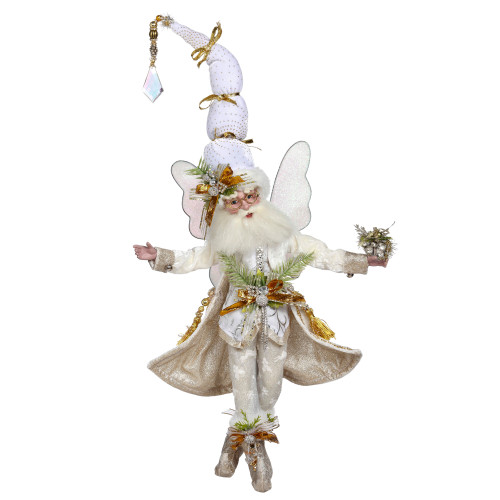 """Mark Roberts Snowy White and Gold Christmas Fairy, Medium 16"""" #51-05930 - IMAGE 1"""