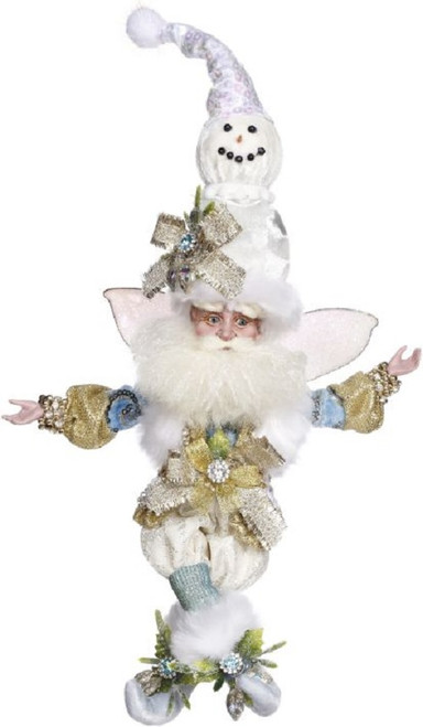 """Mark Roberts Snowman Christmas Fairy White and Blue, Large 24"""" - IMAGE 1"""