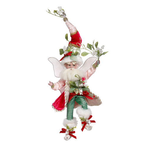 Mark Roberts Red and Green Mistletoe Christmas Fairy, Small 9-Inches - IMAGE 1