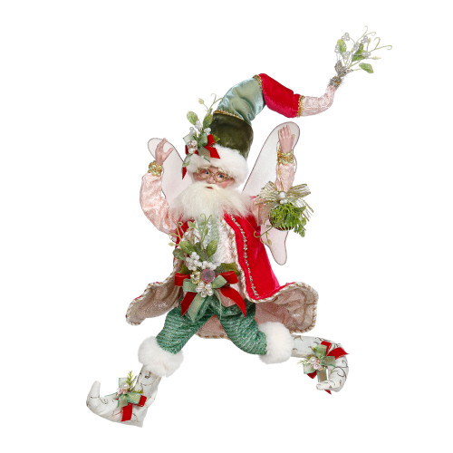Mark Roberts Red and Green Mistletoe Christmas Fairy, Medium 16-Inches - IMAGE 1