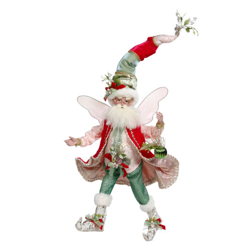 Mark Roberts Red and Green Mistletoe Christmas Fairy, Large 19-Inches - IMAGE 1