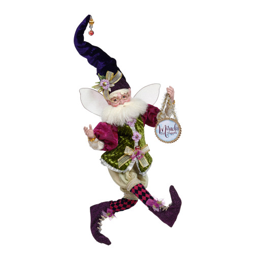 Mark Roberts Green and Purple Miracles Christmas Fairy, Large 19-Inch - IMAGE 1