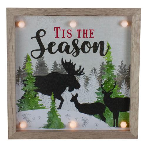 """12"""" Lighted 'Tis The Season' Christmas Wall Decor - IMAGE 1"""