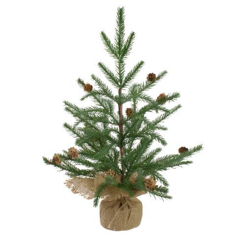 "19"" Medium Artificial Christmas Tree in Burlap Base – Unlit - IMAGE 1"