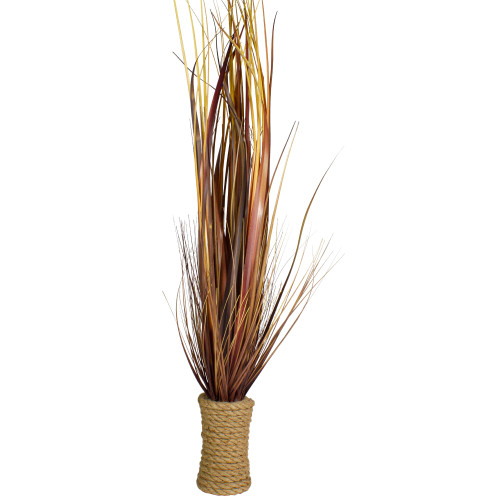 """34"""" Brown Artificial Grass Plant in a Rope Pot - IMAGE 1"""