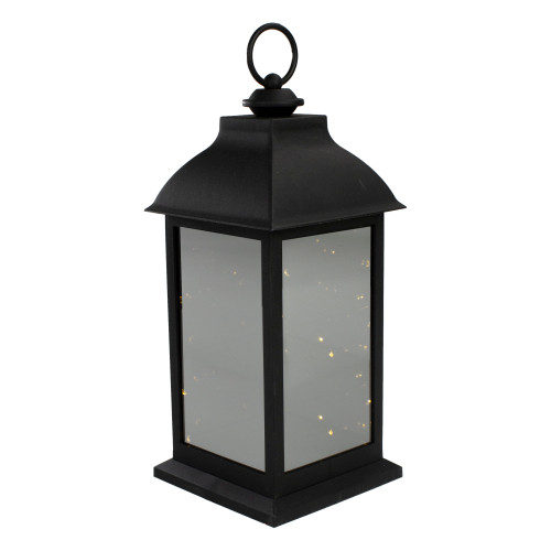12.4-Inch LED Lighted Battery Operated Lantern Warm White Flickering Light - IMAGE 1