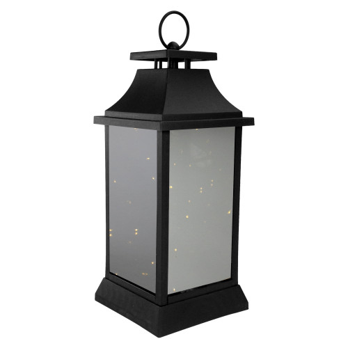 16-Inch LED Lighted Battery Operated Lantern Warm White Flickering Light - IMAGE 1