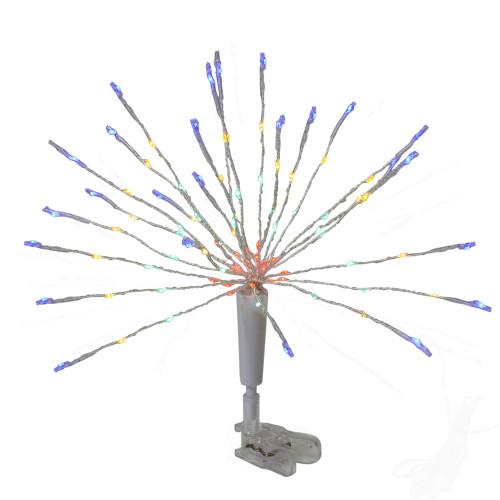 "12"" Multicolor LED Lighted Firework Christmas Tree Topper - IMAGE 1"