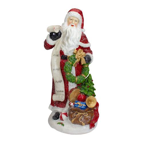 "11.5"" Santa Claus with Nice and Naughty List Christmas Tabletop Figurine - IMAGE 1"