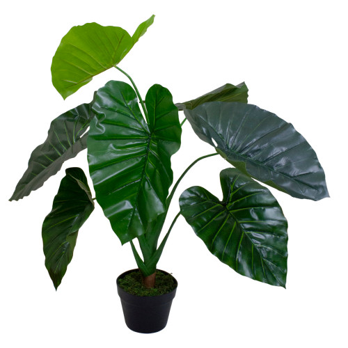 "40"" Green Artificial Taro Potted Plant - IMAGE 1"