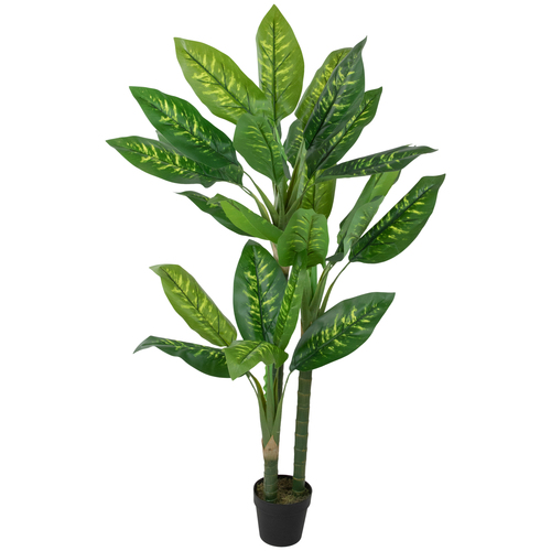 """58"""" Artificial Wide Leaf Green Dieffenbachia Potted Plant - IMAGE 1"""