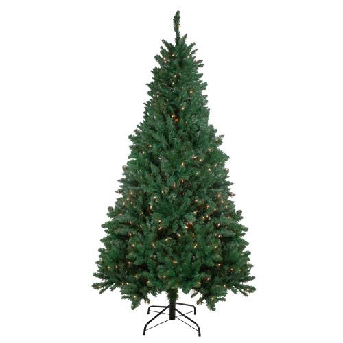 6.5' Pre-Lit Madison Pine Artificial Christmas Tree - Warm White LED Lights - IMAGE 1