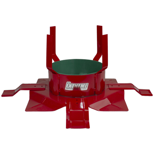 """20"""" Cherry Red and Green Round Outdoor Christmas Tree Stand - IMAGE 1"""