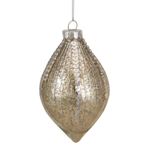 "5"" Gold Mercury Glass Finial Christmas Ornament - IMAGE 1"