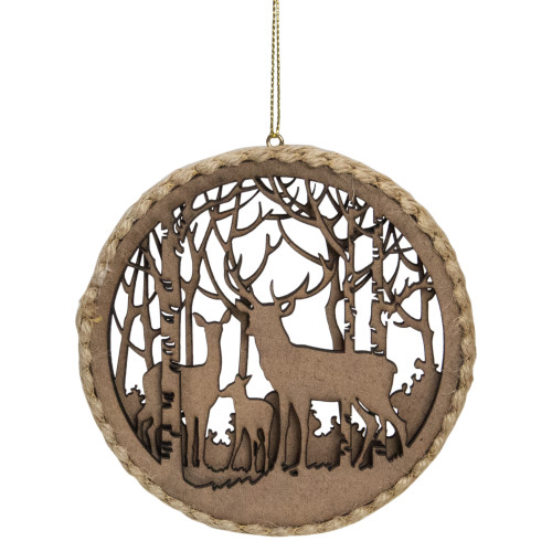 4.5-Inch 2-D Reindeer Family Silhouette Christmas Ornament - IMAGE 1