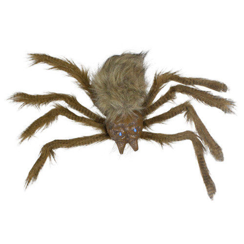 """24"""" Brown Floating Spider with LED Eyes Halloween Decoration - IMAGE 1"""
