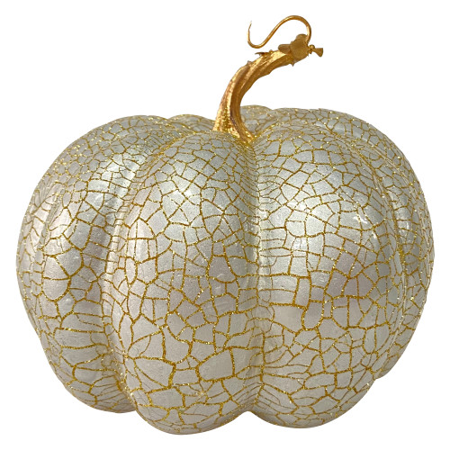 """7"""" Champagne Gold Fall Harvest Tabletop Pumpkin - IMAGE 1"""