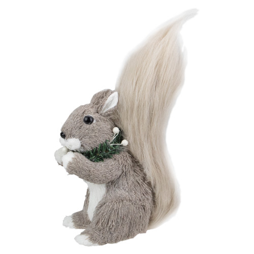 """12"""" Standing Squirrel with Neck Wreath Christmas Figure - IMAGE 1"""