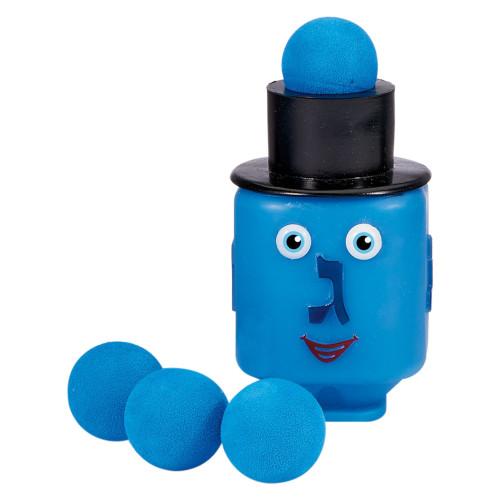"4"" Happy Face Dreidel Popping Ball Launcher Hanukkah Children's Toy - IMAGE 1"