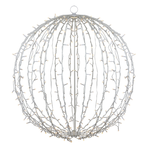 "34"" LED Lighted Christmas Hanging Ball Decoration – Warm White Lights - IMAGE 1"