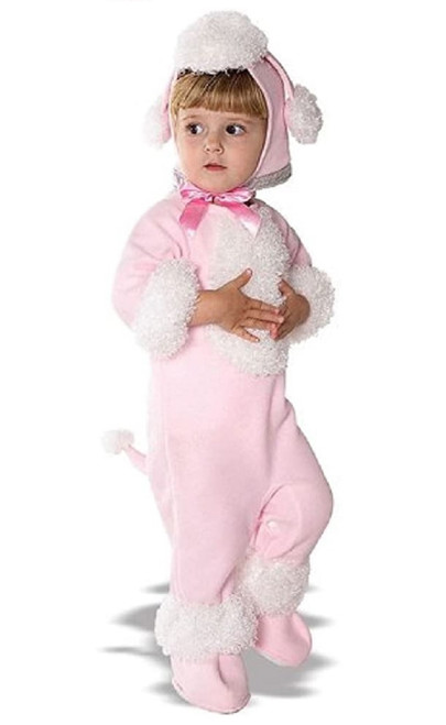 Infant's Pink and White Poodle Halloween Costume Size 1-2; 12-18 Months - IMAGE 1