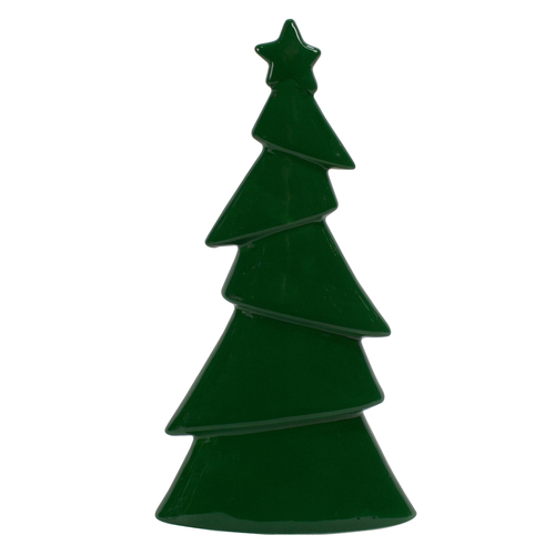 "10.75"" Dark Green Christmas Tree Tabletop Decor"