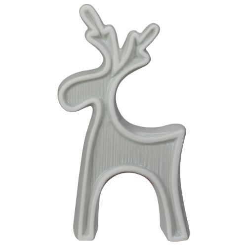 """7.5"""" Gray Standing Reindeer Christmas Tabletop Decor - IMAGE 1"""