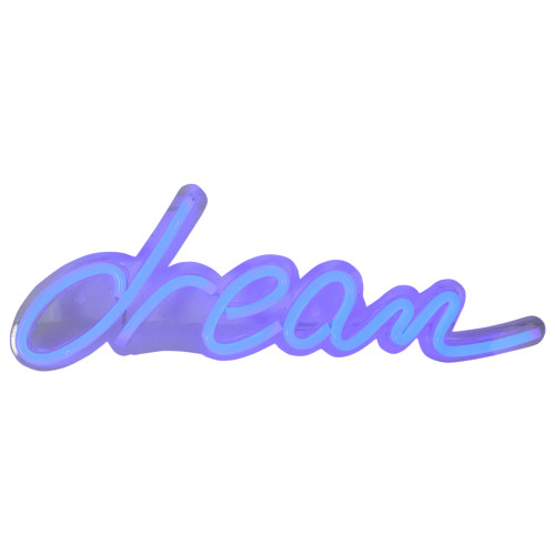 "17"" Bright Blue Neon Style Dream LED Lighted Wall Sign - IMAGE 1"