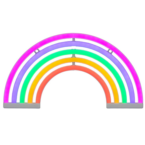 "12"" Neon Style LED Multi-Color Rainbow Light Wall Sign - IMAGE 1"