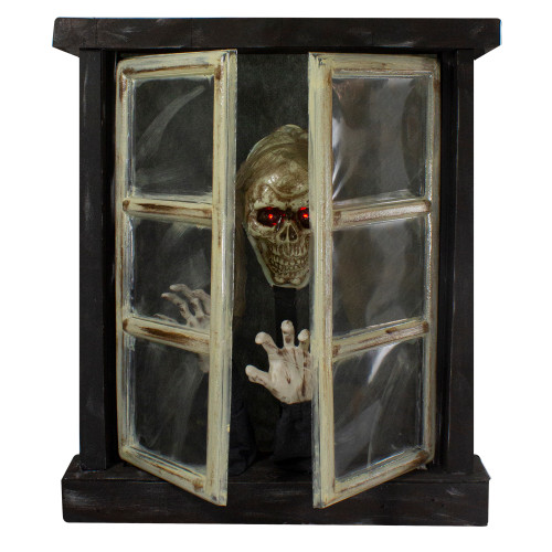 """29"""" Lighted and Animated Opening Window Halloween Decoration - IMAGE 1"""