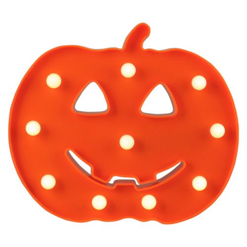 "8.5"" Lighted Orange Jack-o-Lantern Halloween Marquee Decoration - IMAGE 1"
