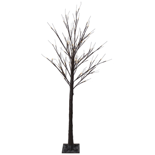 6' Lighted Christmas Birch Twig Tree Outdoor Decoration - Warm White LED Lights - IMAGE 1