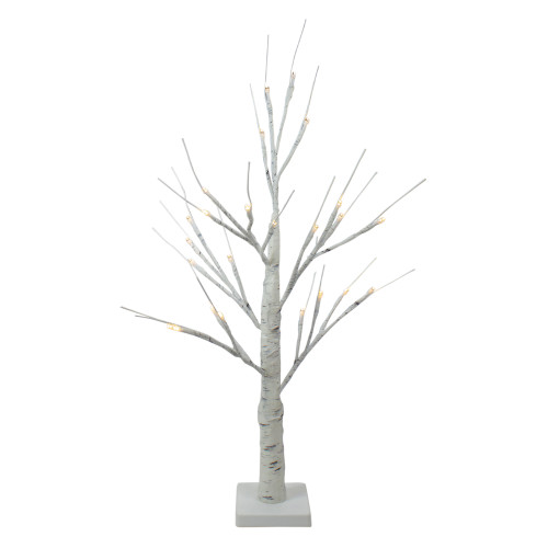 """24"""" Lighted Christmas Twig Tree Outdoor Decoration - Warm White LED Lights - IMAGE 1"""