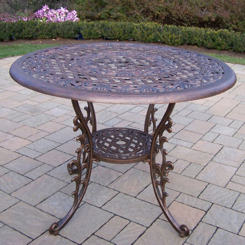 Mississippi Cast Aluminum 42 Inch Dining Table - IMAGE 1