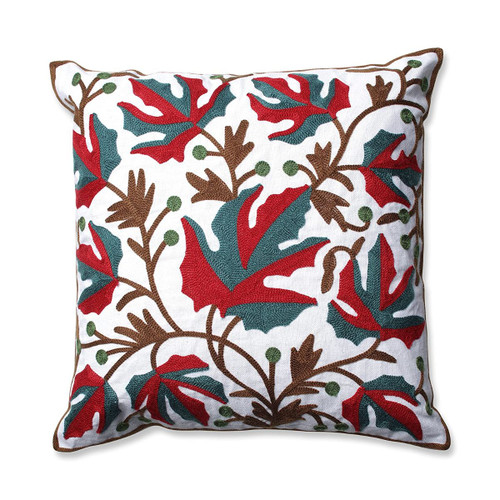 Pillow Perfect Indoor Leaves 18-inch Embroidered Throw Pillow - IMAGE 1