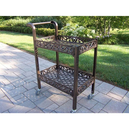 "38"" Aluminum Outdoor Furniture Patio Service Cart - IMAGE 1"