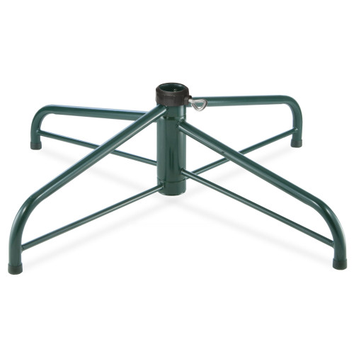 "32"" Green and Black Folding Tree Stand 9 ft. to 10 ft. Tall Artificial Trees - IMAGE 1"