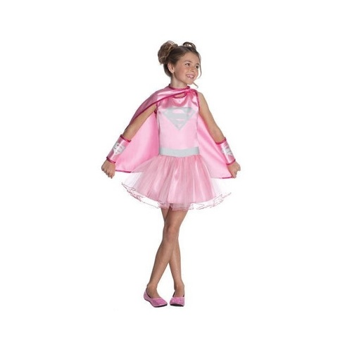 DC Comics Supergirl Pink Tutu Girl's Halloween Costume Size Large 12-14 - IMAGE 1