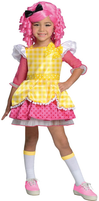 Lalaloopsy Deluxe Crumbs Sugar Cookie Girl Child Halloween Costume Small 4-6 - IMAGE 1