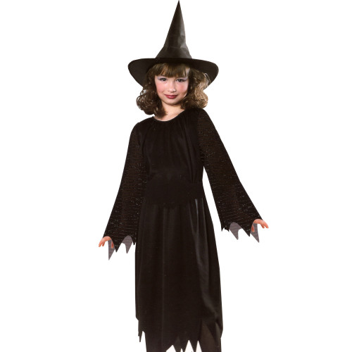 Wild n' Witchy Girls Witch Halloween Costume Size Medium 8-10 - IMAGE 1