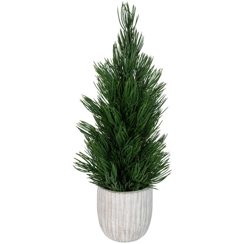 """13.25"""" Mini Fir Artificial Tabletop Christmas Tree with Cement Base - Unlit - IMAGE 1"""