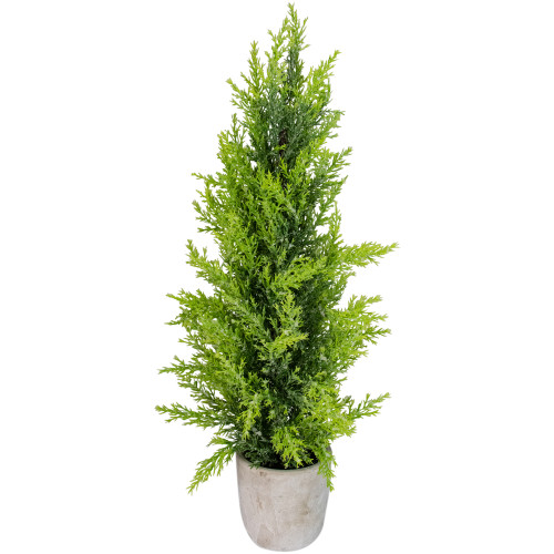 """17"""" Upswept Frosted Cedar Artificial Christmas Tree - unlit - IMAGE 1"""