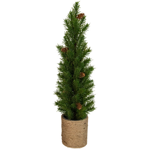 """16.5"""" Mini Artificial Christmas Tree with Pinecones - Unlit - IMAGE 1"""
