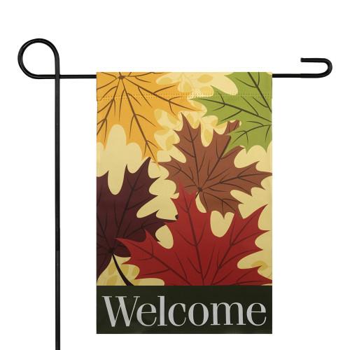 "Welcome Autumn Harvest Outdoor Garden Flag 12.5"" x 18"" - IMAGE 1"